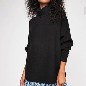 NEW Free people softly structured black turtleneck